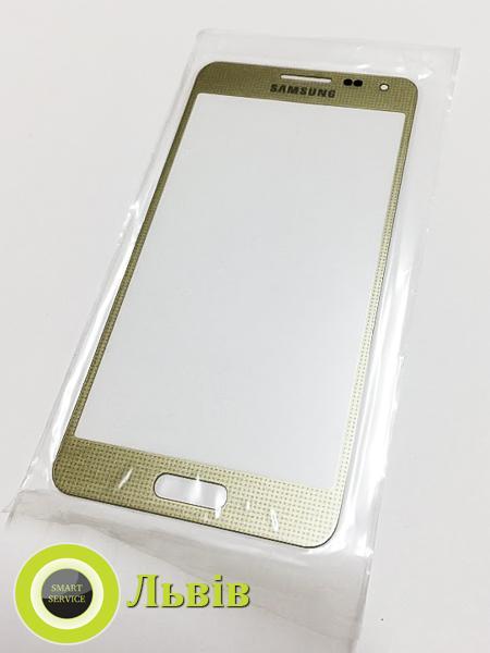 Скло корпусу Samsung G850F Galaxy Alpha, золотисте